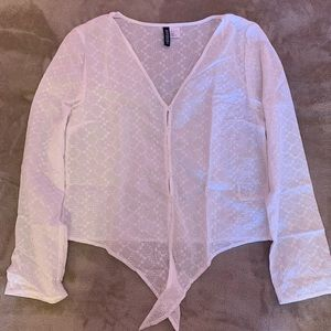 NWOT white button down h&m top